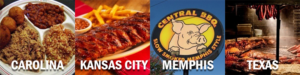 four styles of bbq