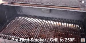 pre heat grill