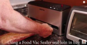 vacuum sealed pork loin