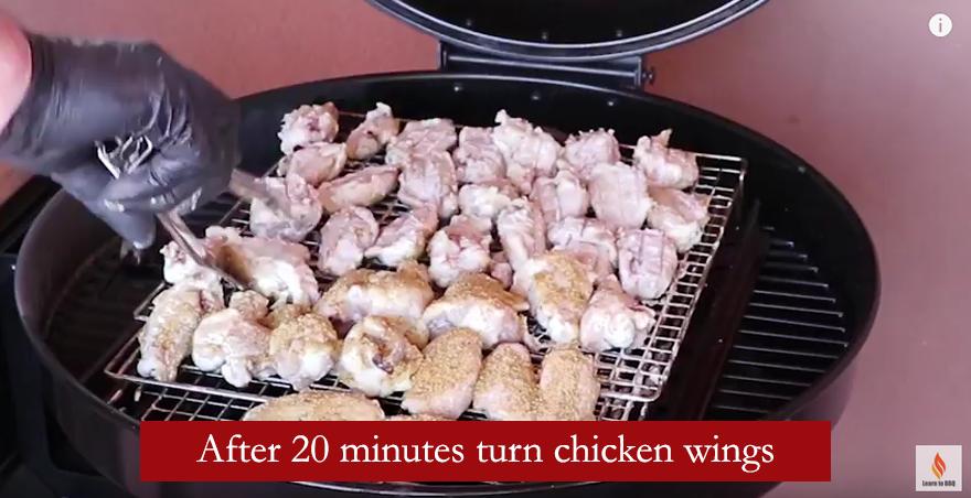 turn chicken wings